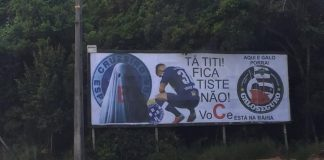 Outdoor provocando torcedores do Cruzeiro