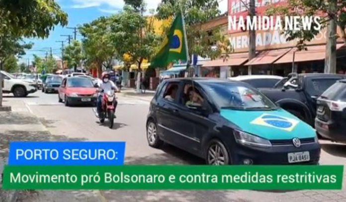 Manifestação em Porto Seguro