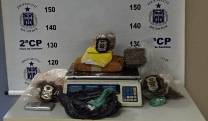 Depósito de drogas localizado em Feira de Santana