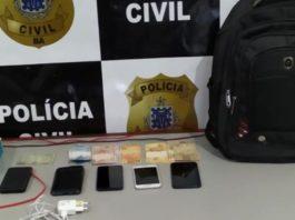 Itens apreendidos em operação da polícia