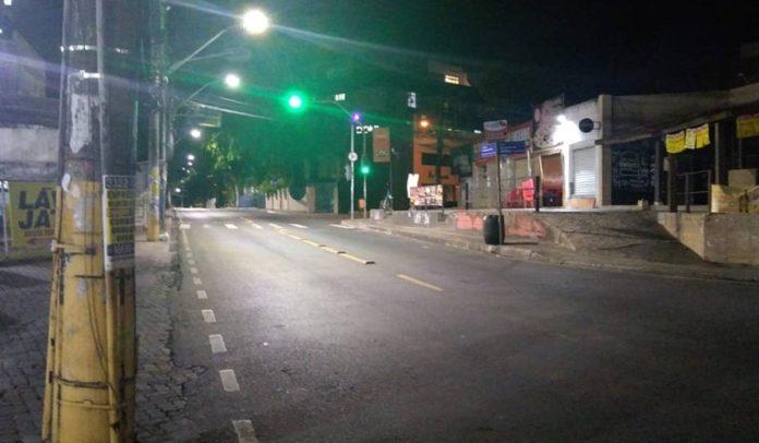 Ruas vazias em Salvador