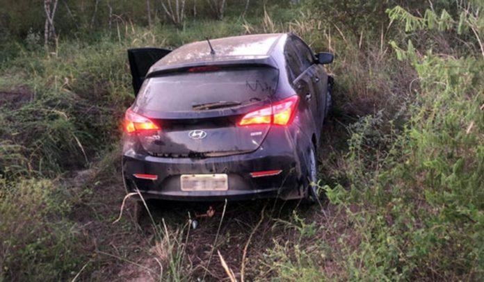 Carro envolvido em acidente com vítima fatal na BA-120