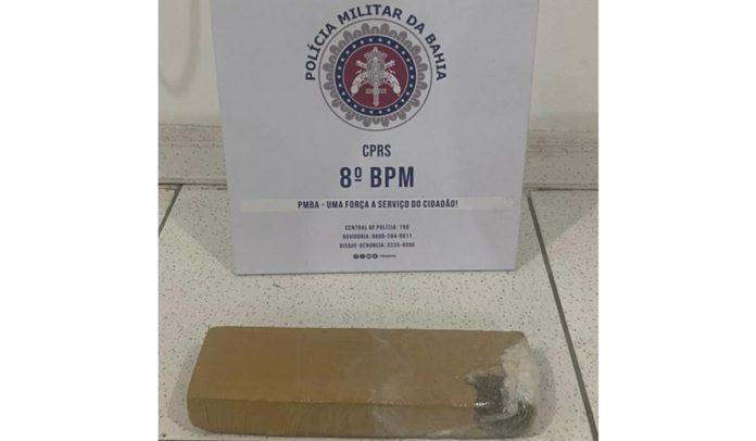 Droga apreendida pela Polícia Militar em Porto Seguro
