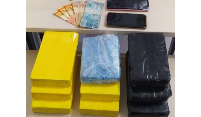 Mais de 10 kg de cocaína aprendidos pela Polícia Militar em Vitória da Conquista