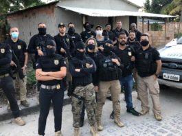 Operação da Polícia em Cabrália