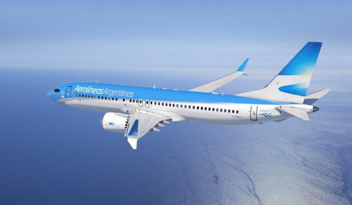 Avião da Aerolíneas Argentinas