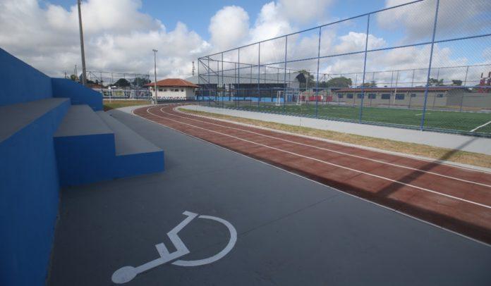 Escola sendo reformada na Bahia