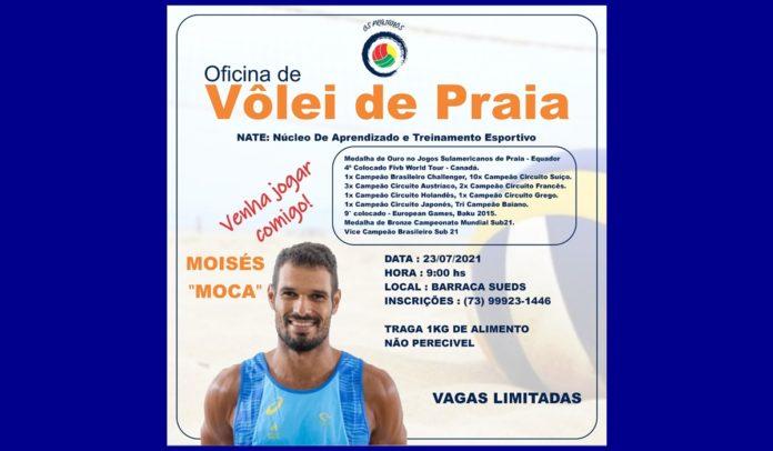 Os Praianos promoverá oficina de vôlei de praia para a comunidade portosegurense